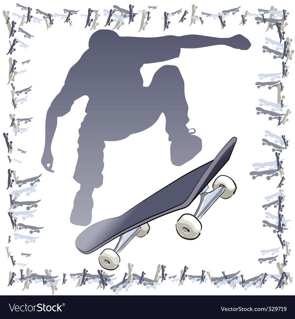 skateboarder frame vector | Price: 1 Credit (USD $1)