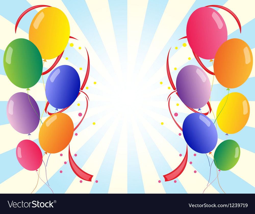 Twelve colorful party balloons vector | Price: 1 Credit (USD $1)