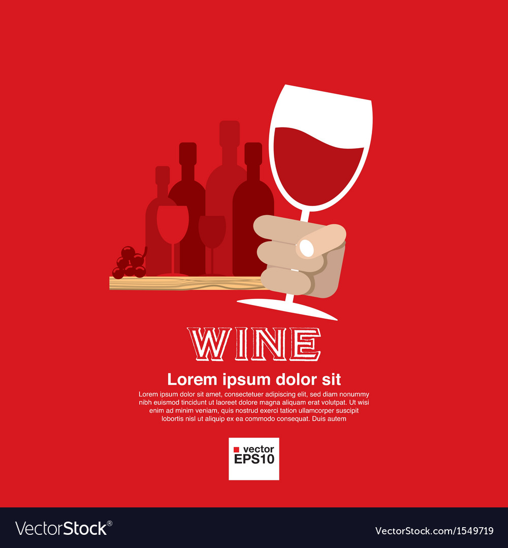 Wine glass in hand eps10 vector | Price: 1 Credit (USD $1)