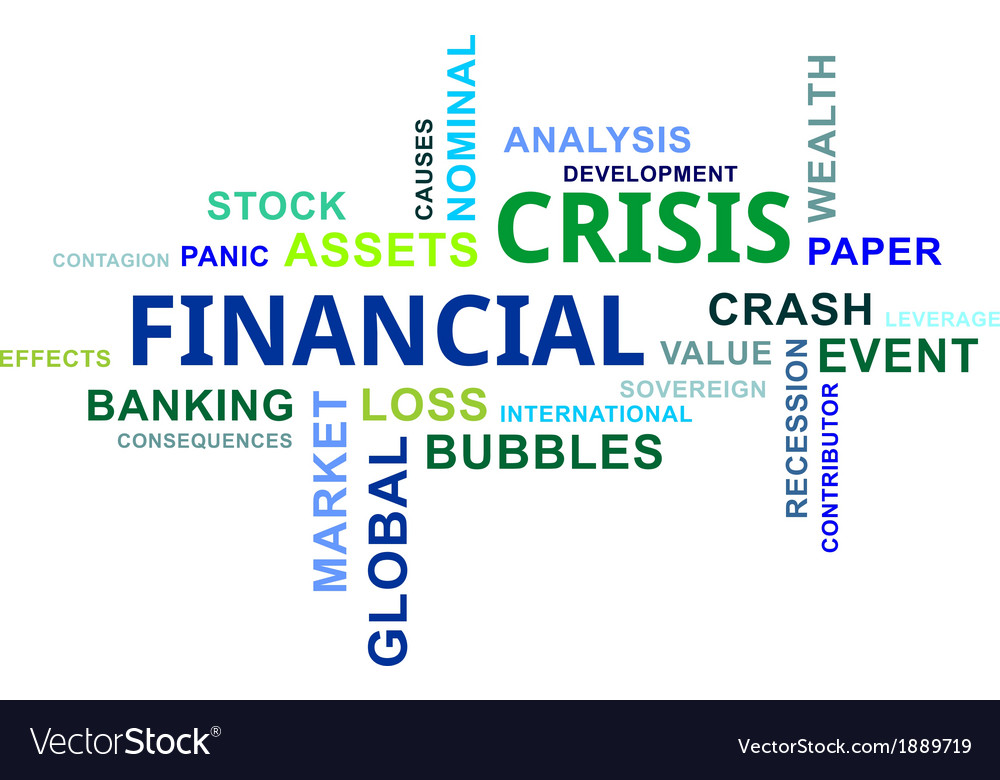 Word cloud financial crisis vector | Price: 1 Credit (USD $1)