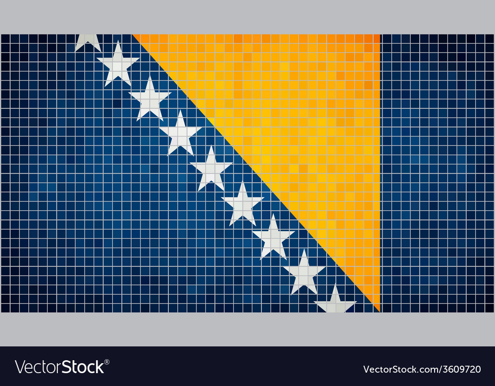 Abstract mosaic flag of bosnia and herzegovina vector | Price: 1 Credit (USD $1)