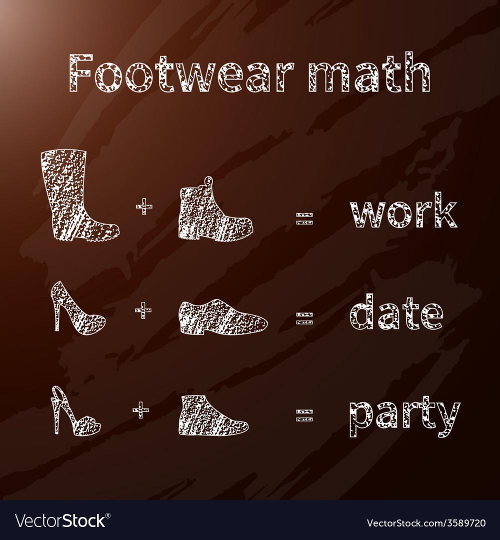 Footwear math vector | Price: 1 Credit (USD $1)