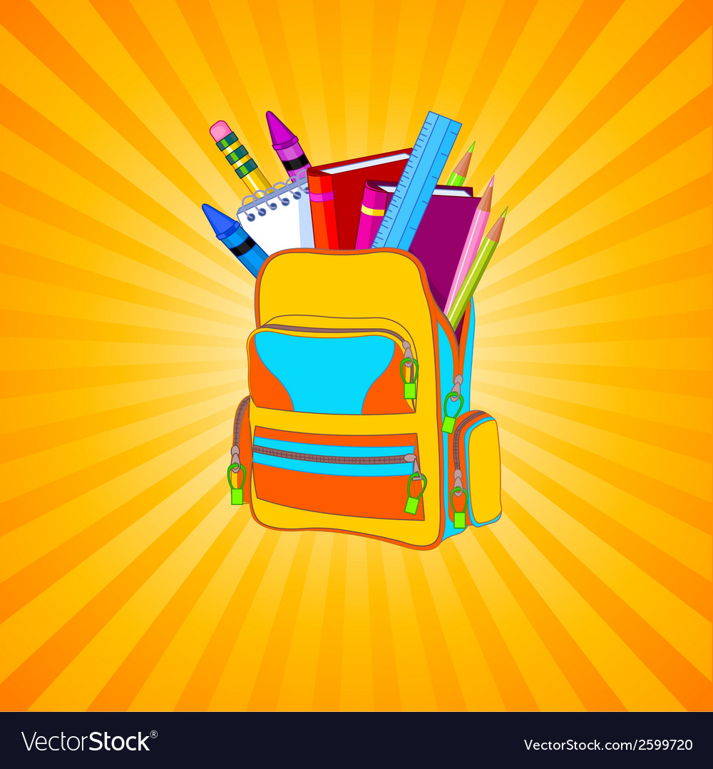Full backpack vector | Price: 1 Credit (USD $1)