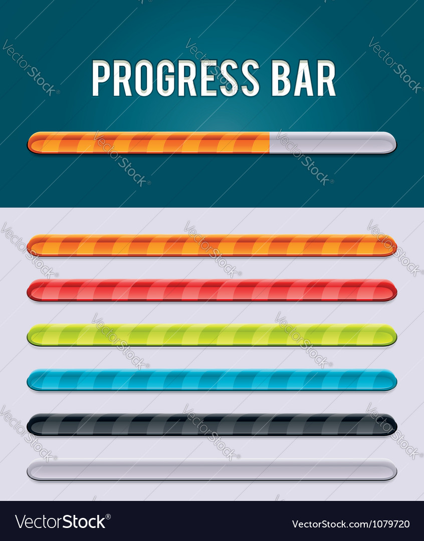 Gloving progress bar vector | Price: 3 Credit (USD $3)