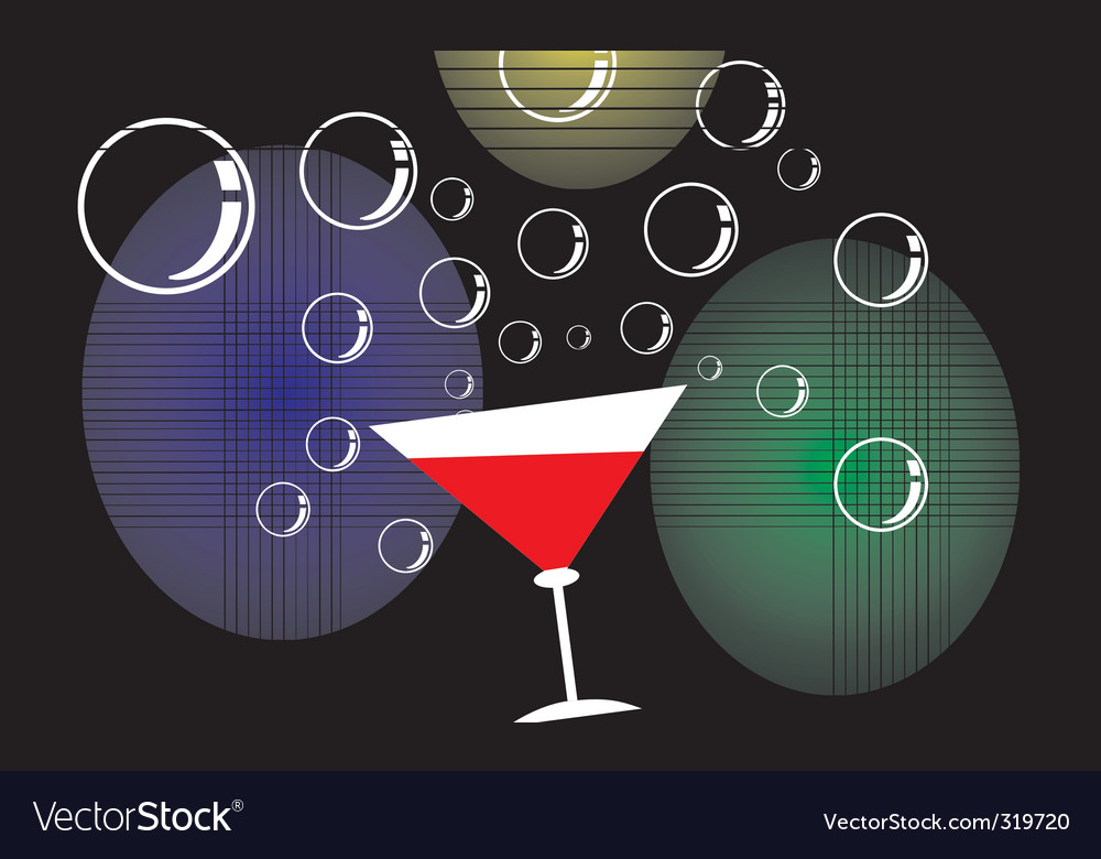 Goblet and bubbles vector | Price: 1 Credit (USD $1)