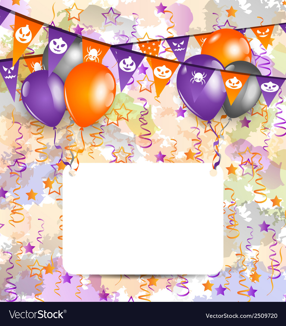 Halloween decoration with greeting card vector | Price: 1 Credit (USD $1)