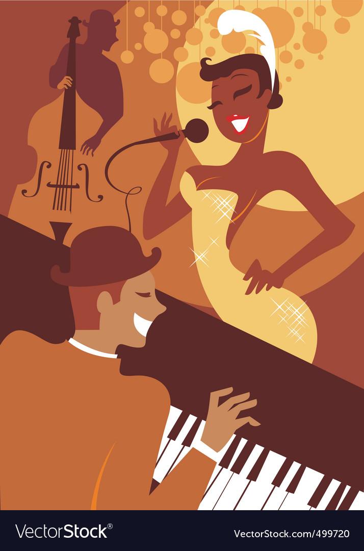 Jazz concert vector | Price: 1 Credit (USD $1)