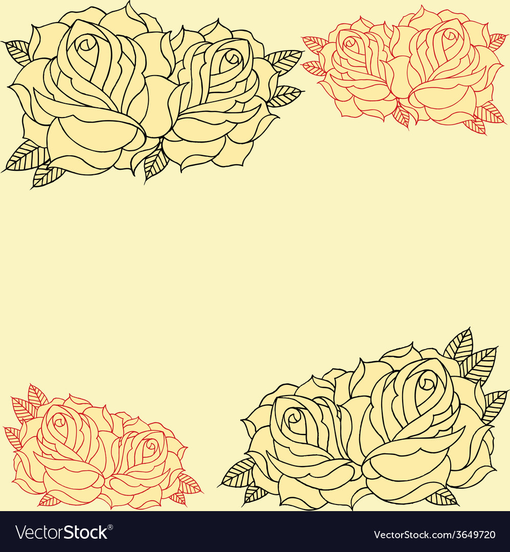 Roses frame vector | Price: 1 Credit (USD $1)