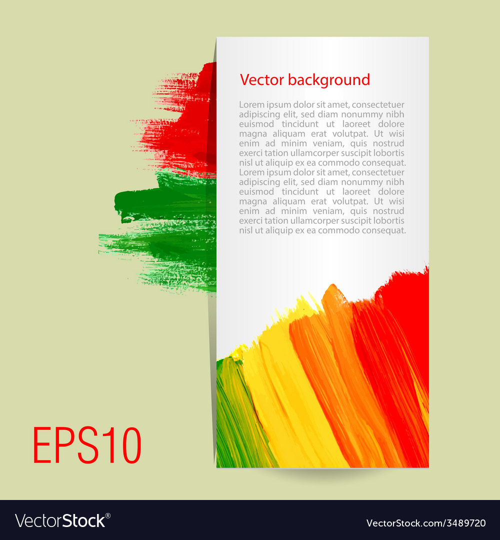 Template for card background acrylic brush vector | Price: 1 Credit (USD $1)