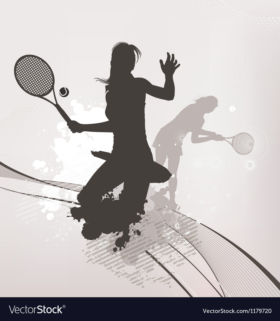 Tennis girl background vector | Price: 1 Credit (USD $1)