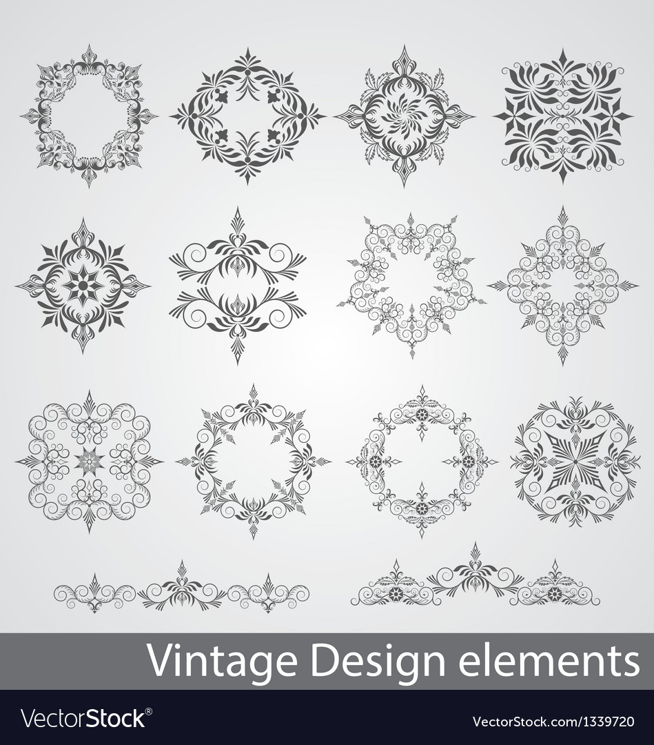 Vintage elements of design vector | Price: 1 Credit (USD $1)