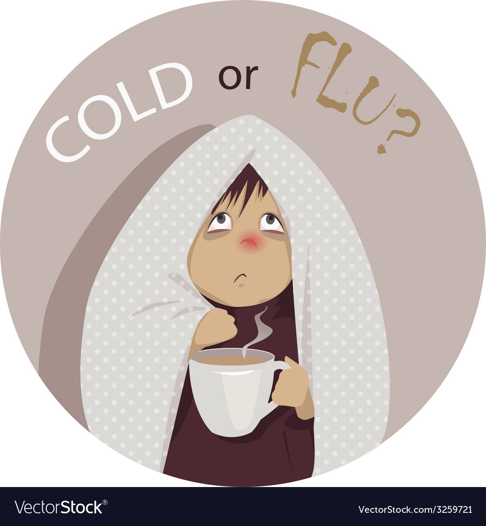 Common cold or flu vector | Price: 1 Credit (USD $1)