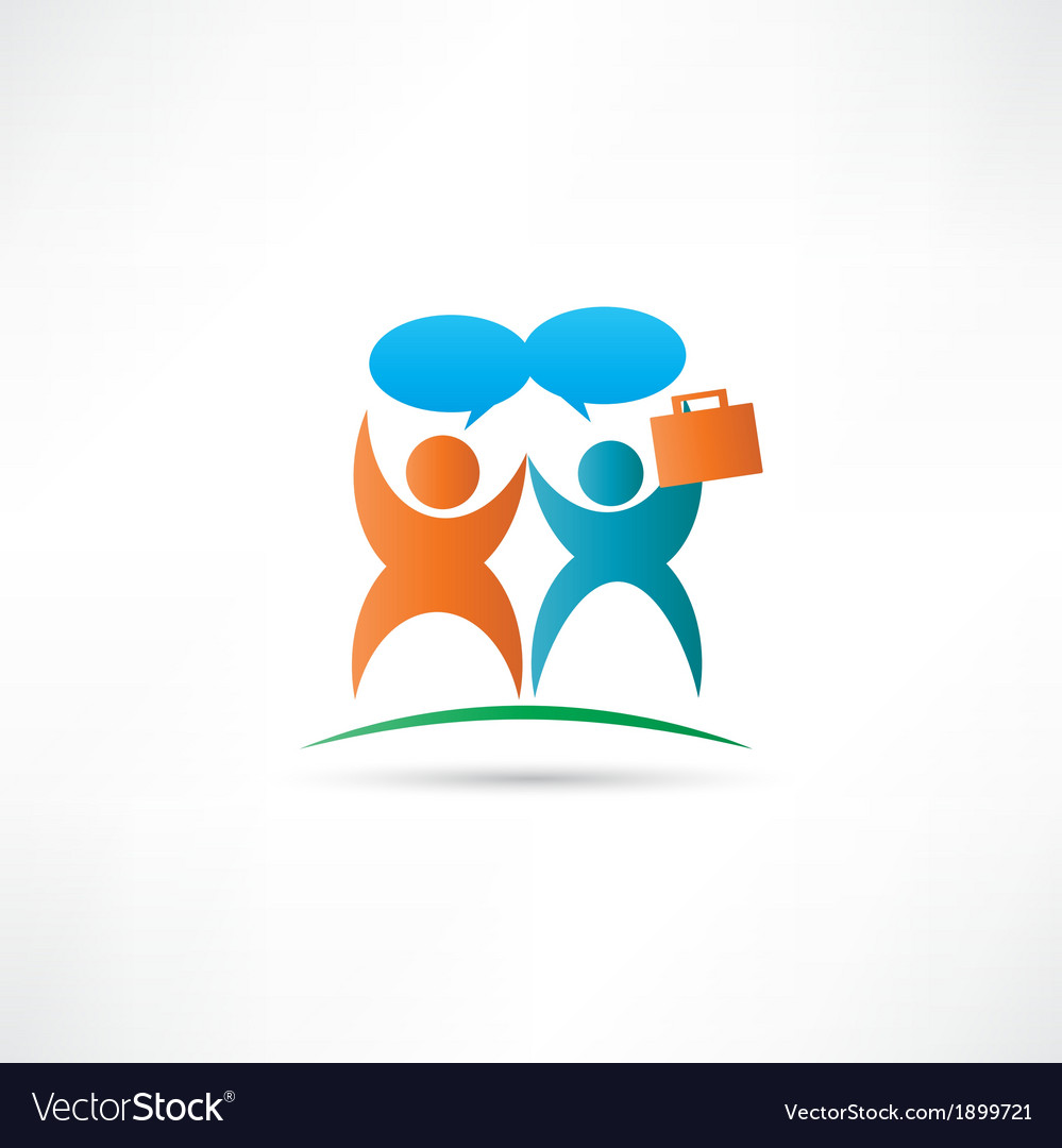 Communication partnership icon vector | Price: 1 Credit (USD $1)