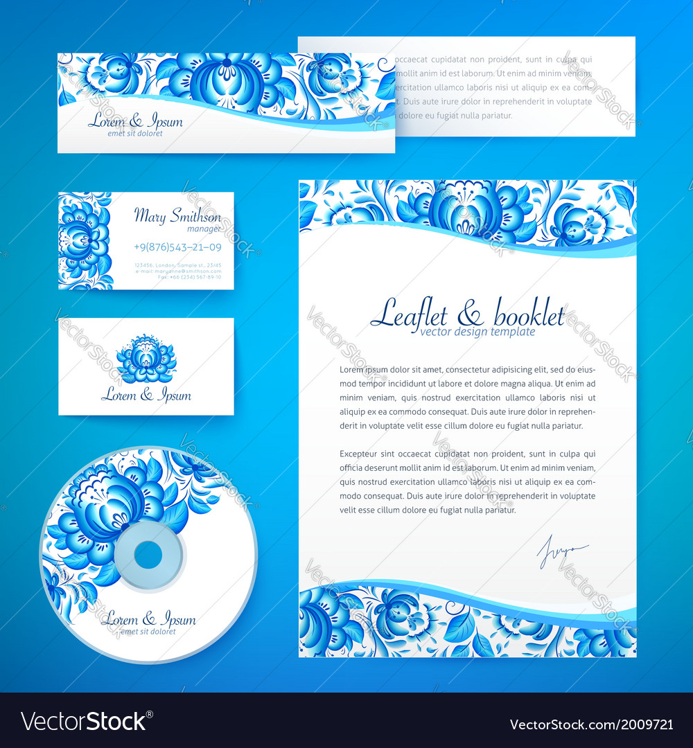 Floral theme business style template vector | Price: 1 Credit (USD $1)