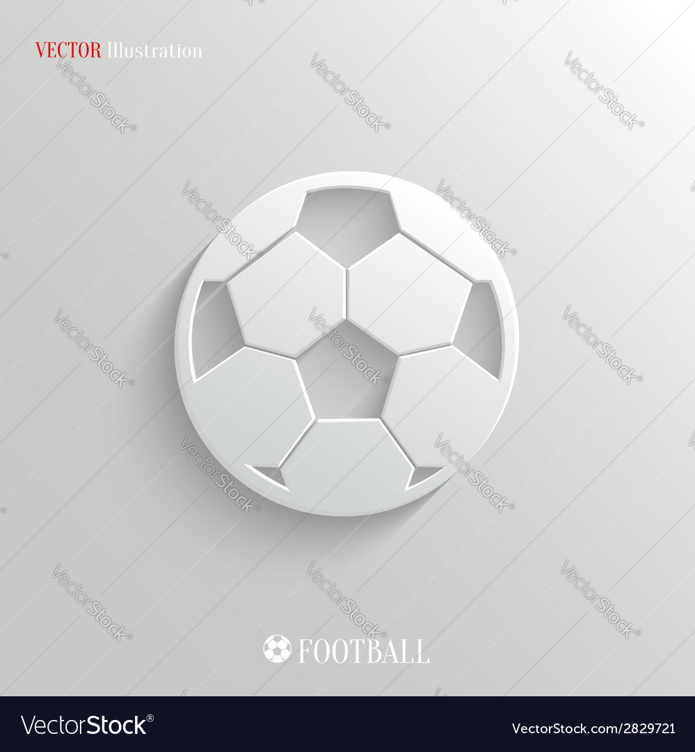 Football icon - white app button vector | Price: 1 Credit (USD $1)