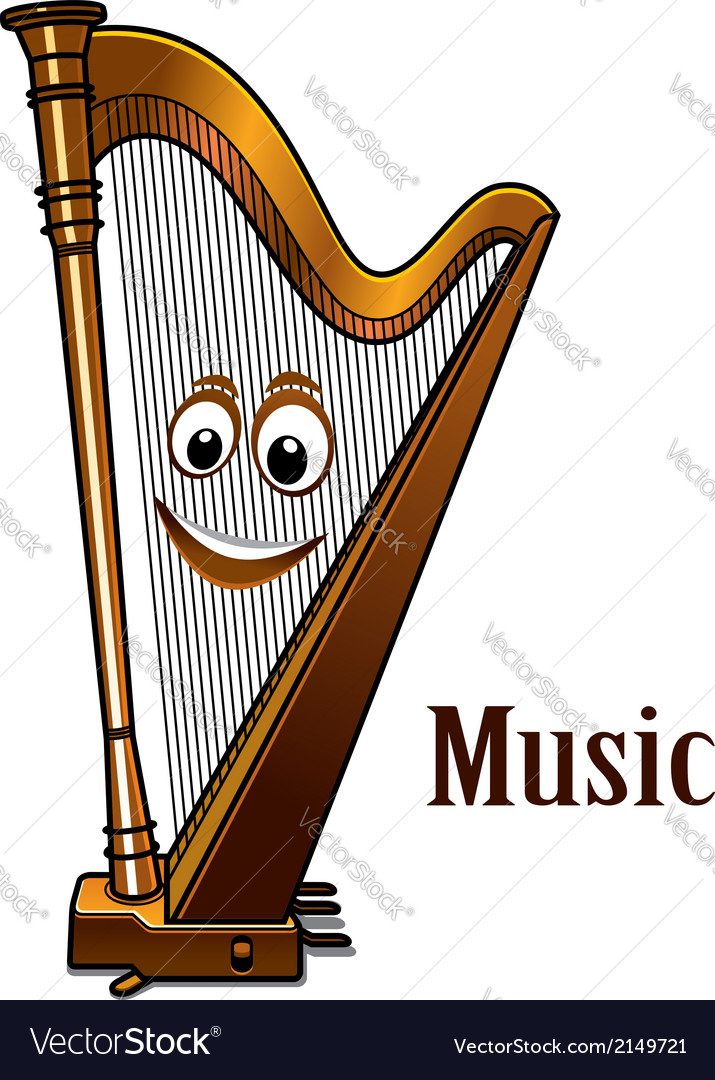 Happy harp in a music concept vector | Price: 1 Credit (USD $1)