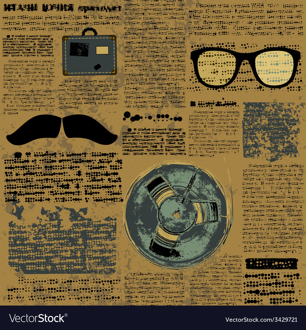 Newpaper with hipster elements vector | Price: 1 Credit (USD $1)