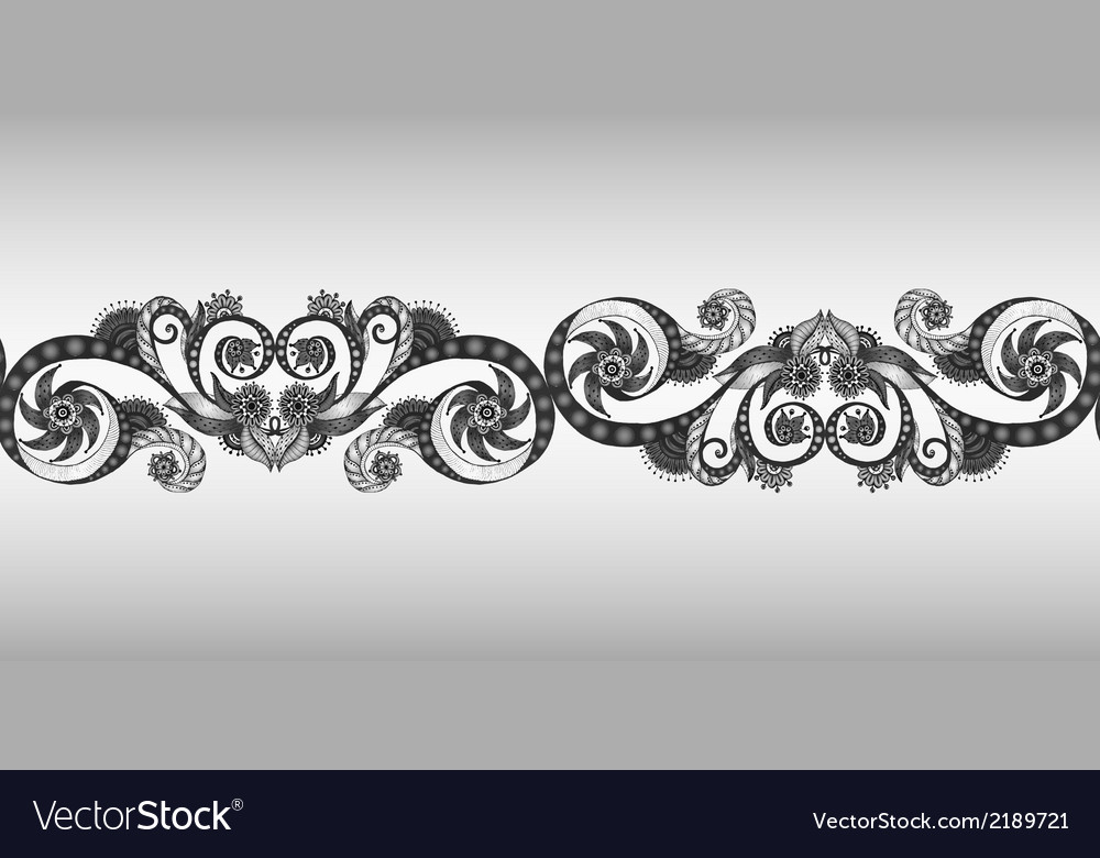 Seamless ribbon in the black and white vector | Price: 1 Credit (USD $1)