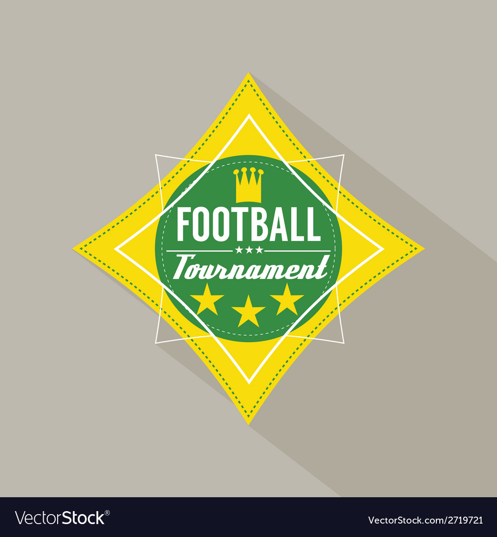 Soccer or football tournament badge vector | Price: 1 Credit (USD $1)