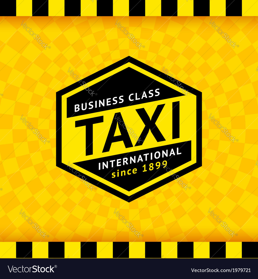 Taxi symbol with checkered background - 20 vector | Price: 1 Credit (USD $1)