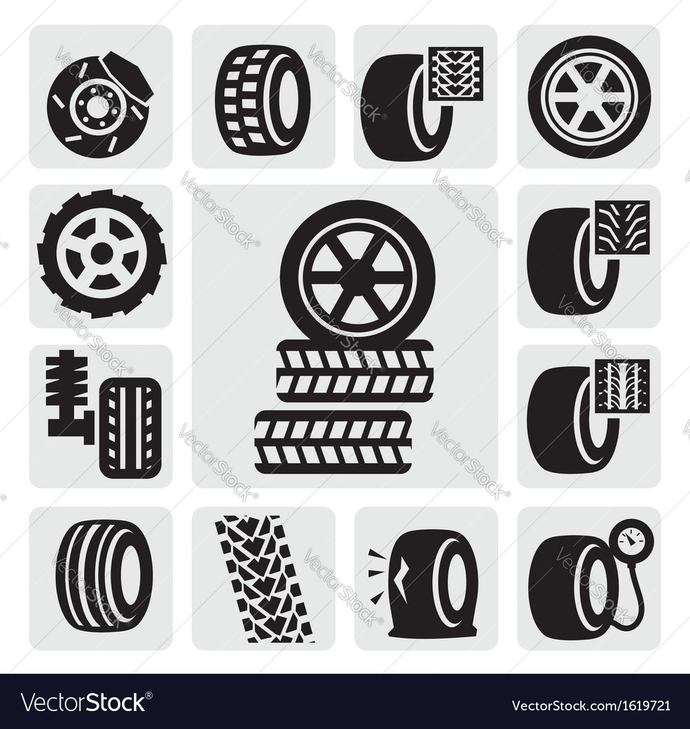 Tire icons vector   Price: 1 Credit (USD $1)