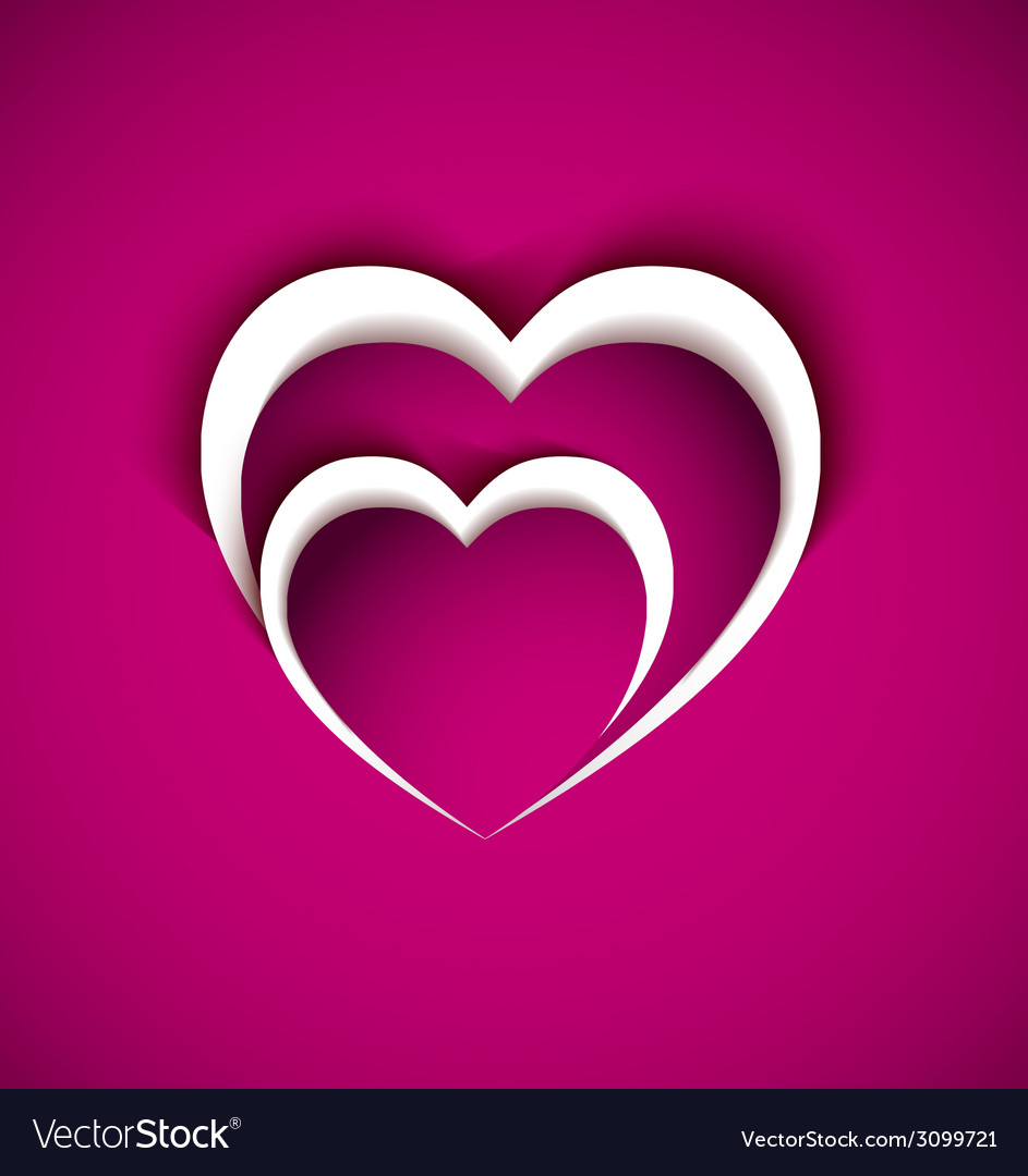 Two heart from paper-love concept vector | Price: 1 Credit (USD $1)