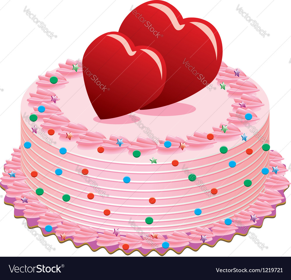 Valentine cake vector | Price: 1 Credit (USD $1)