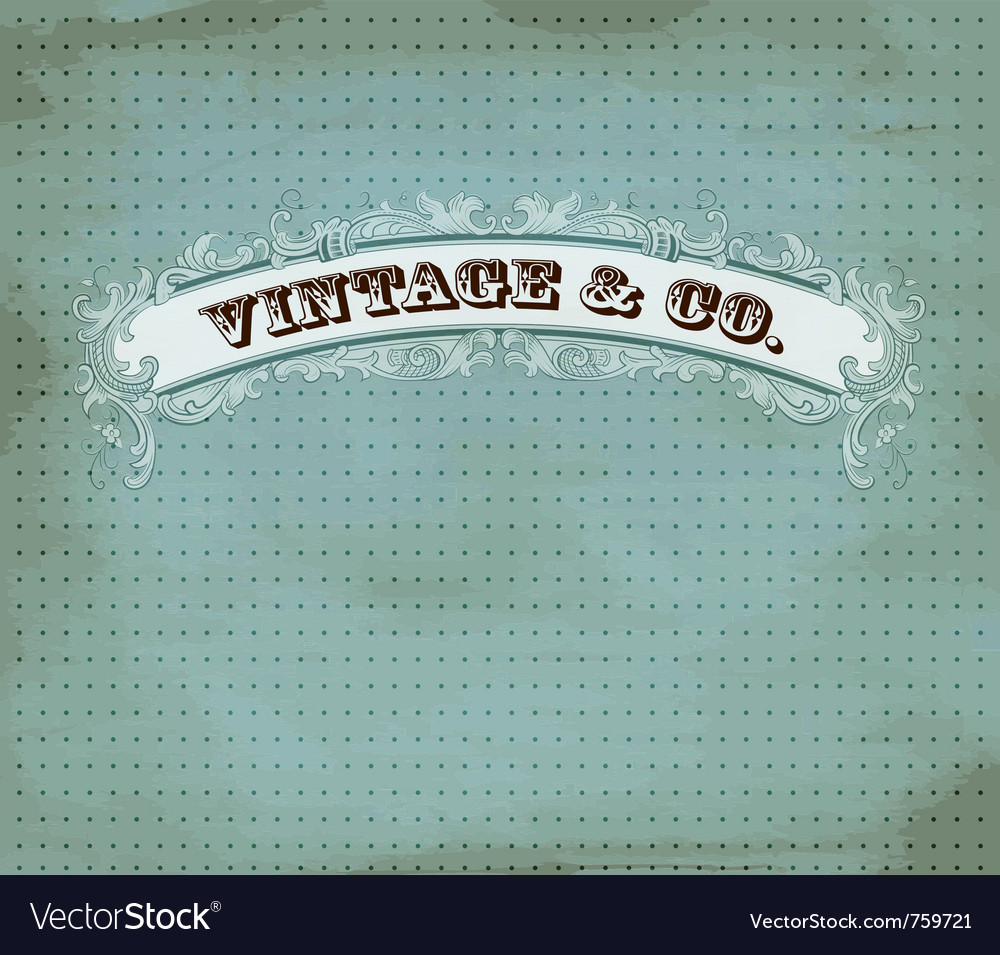 Vintage dot card vector | Price: 1 Credit (USD $1)