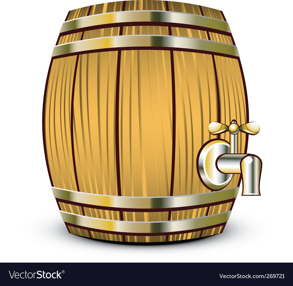 Wine barrel vector | Price: 1 Credit (USD $1)