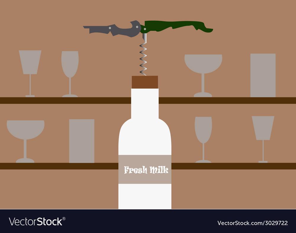 Bottle milk vector | Price: 1 Credit (USD $1)