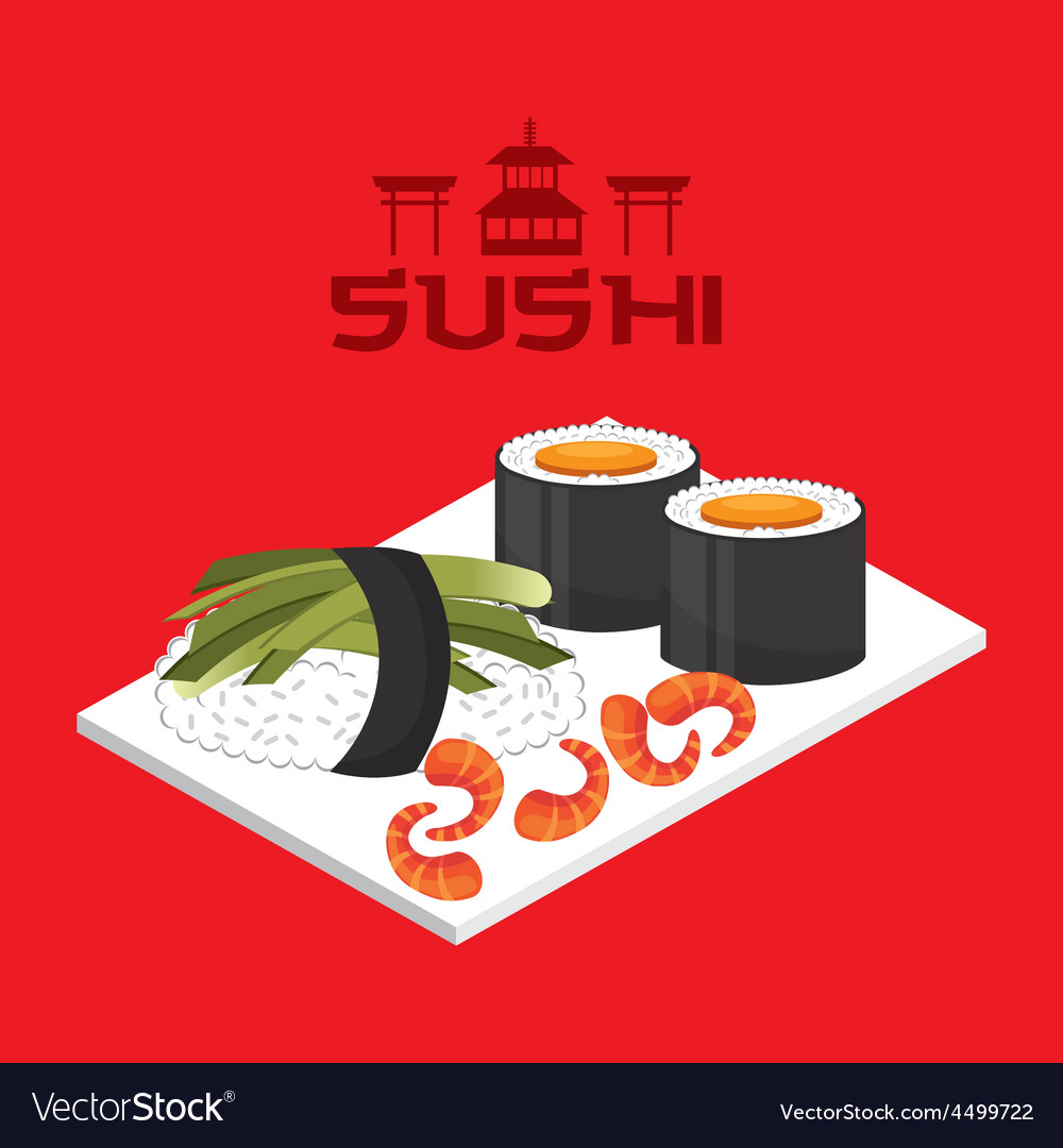 Delicious sushi vector | Price: 1 Credit (USD $1)