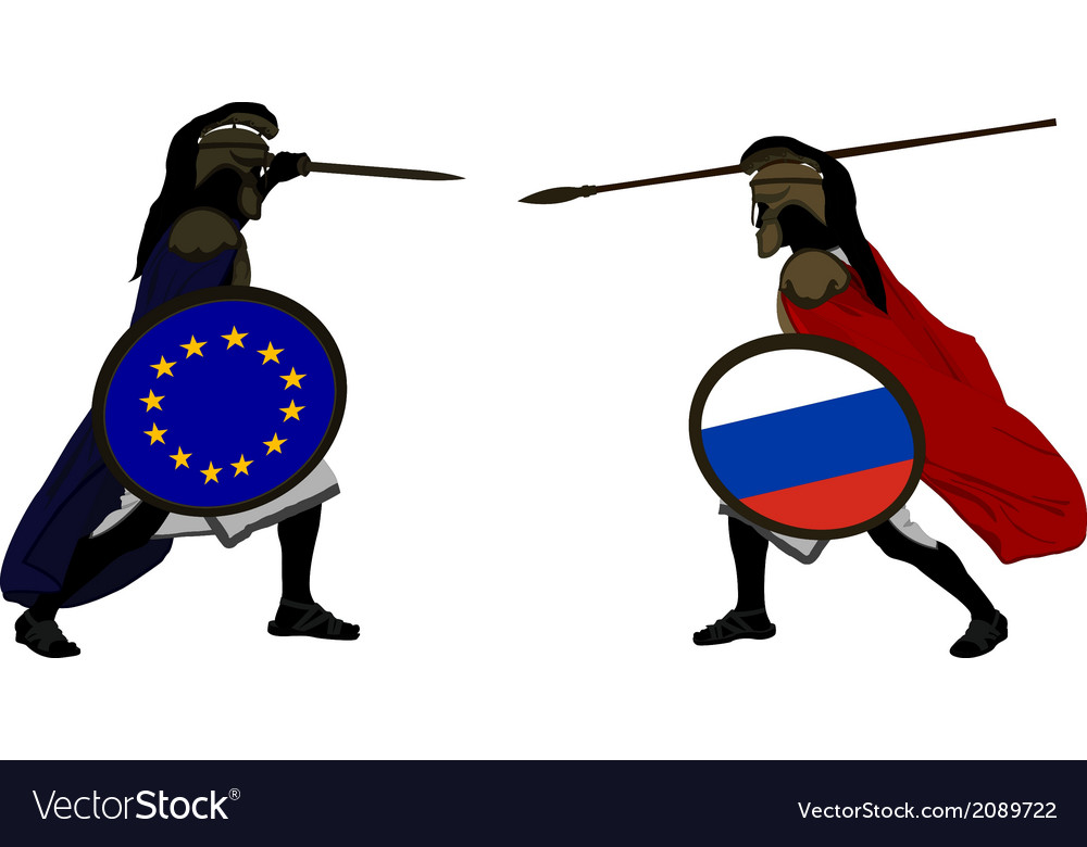 European and russian warriors vector | Price: 1 Credit (USD $1)