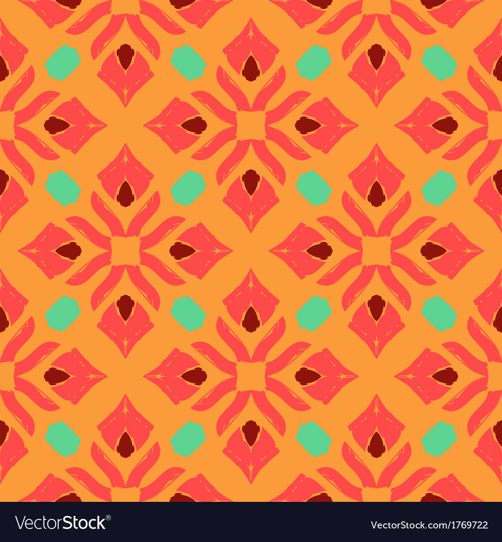 Oriental pattern with indian thai ethnic motifs vector | Price: 1 Credit (USD $1)