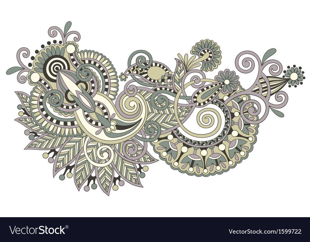 Original hand draw line art ornate flower design vector   Price: 1 Credit (USD $1)