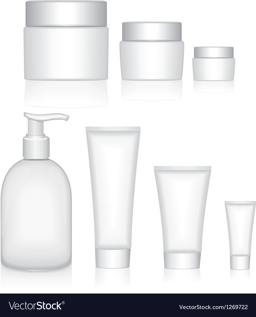 Packaging containers beauty products vector | Price: 1 Credit (USD $1)
