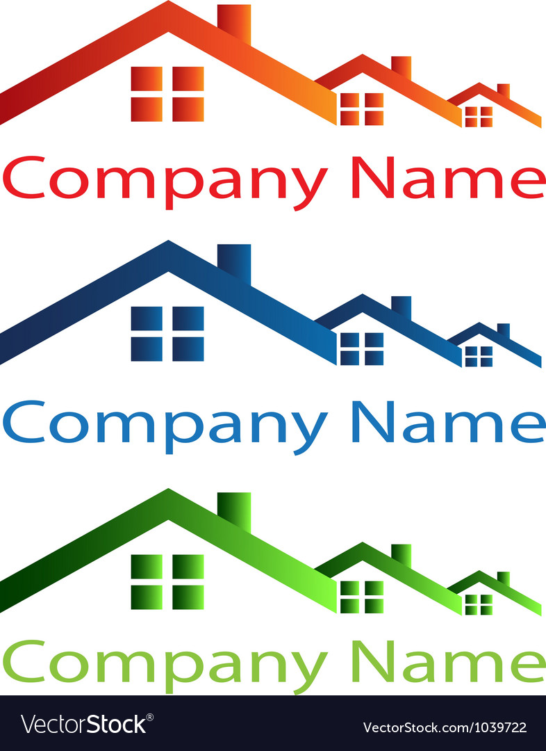 Real estate houses logo vector | Price: 1 Credit (USD $1)