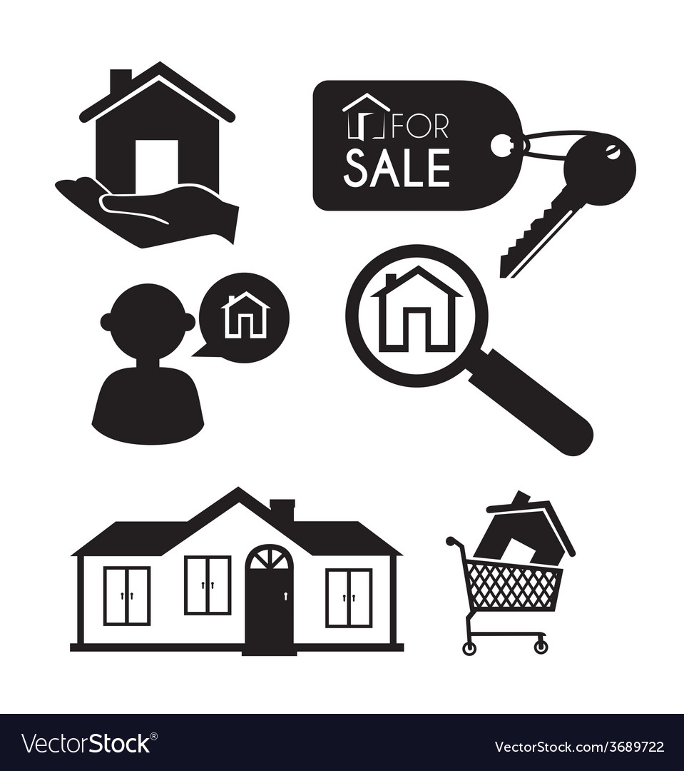 Real estate over white background vector | Price: 1 Credit (USD $1)