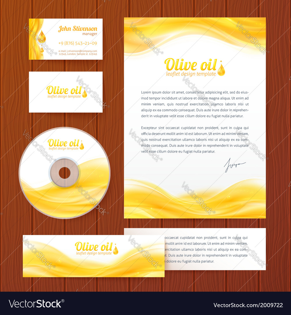 Realistic oil business style template vector | Price: 1 Credit (USD $1)