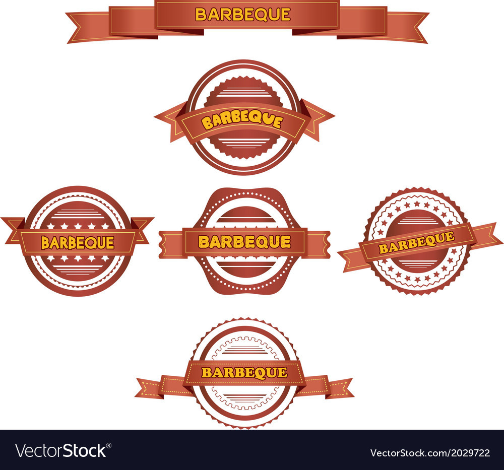 Set of barbeque labels vector | Price: 1 Credit (USD $1)