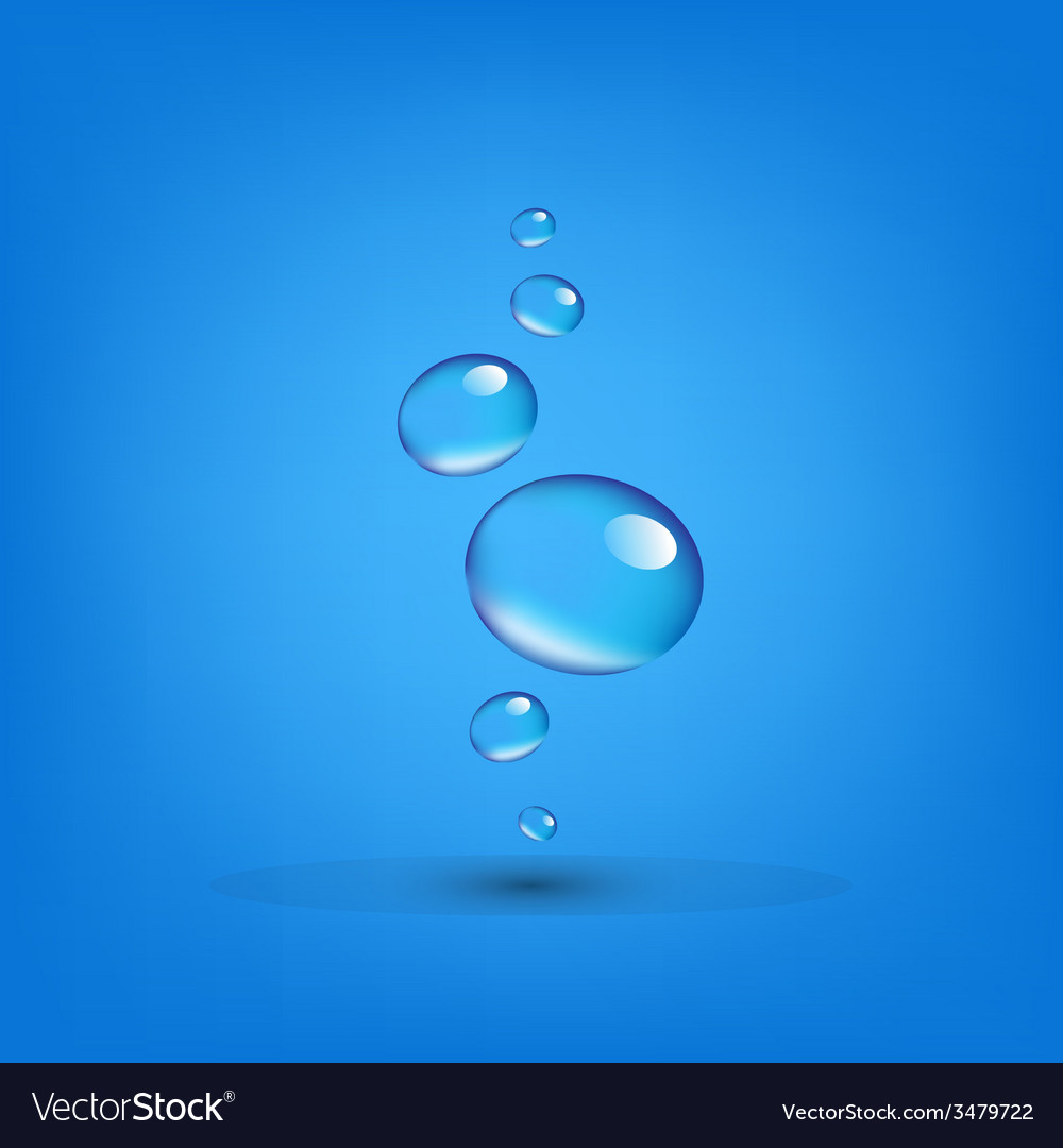 Water drop wall vector | Price: 1 Credit (USD $1)