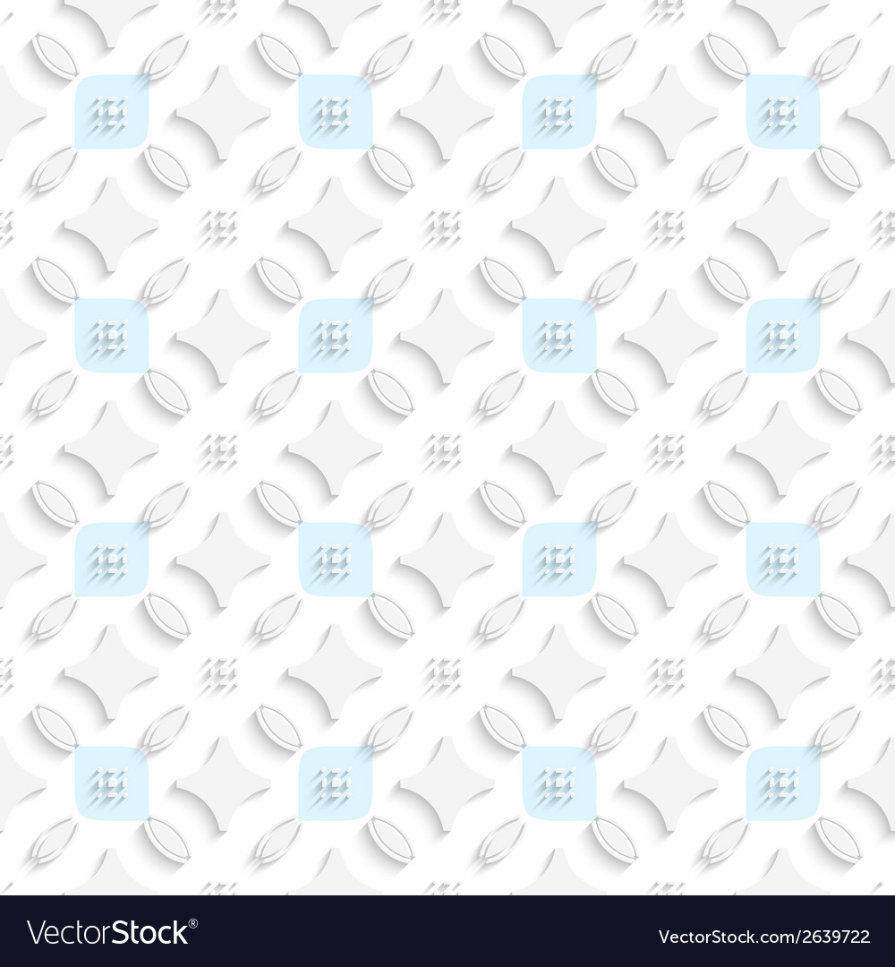 White ornament with blue squares seamless vector | Price: 1 Credit (USD $1)