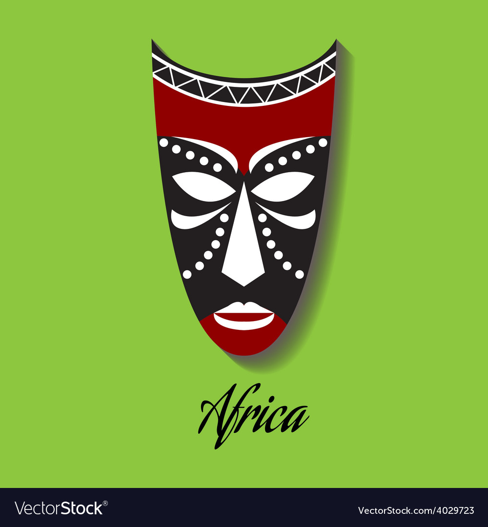 Africa mask vector | Price: 1 Credit (USD $1)