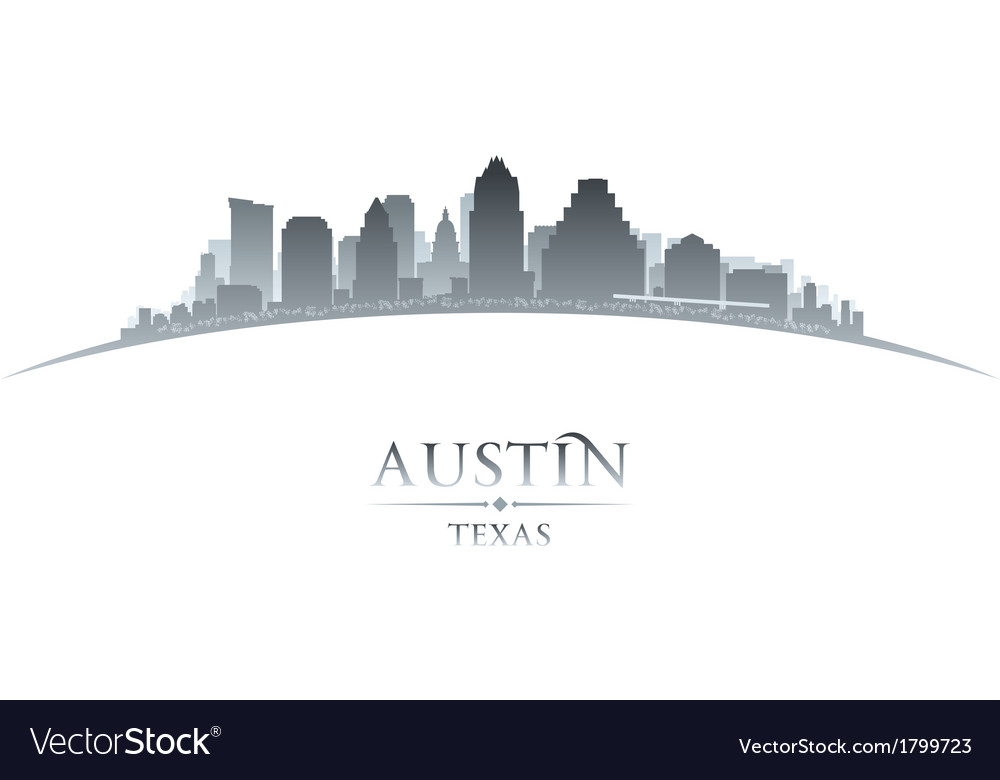Austin texas city skyline silhouette vector | Price: 1 Credit (USD $1)