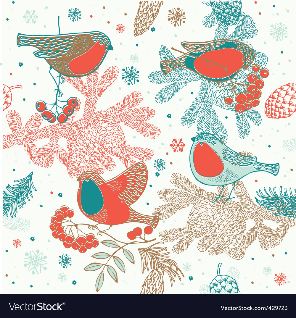 Birds background vector | Price: 1 Credit (USD $1)
