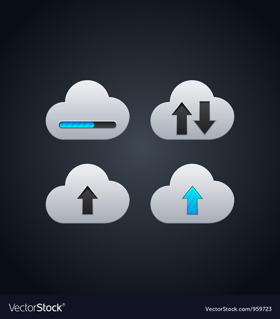 Cloud computing concept with arrows vector | Price: 1 Credit (USD $1)