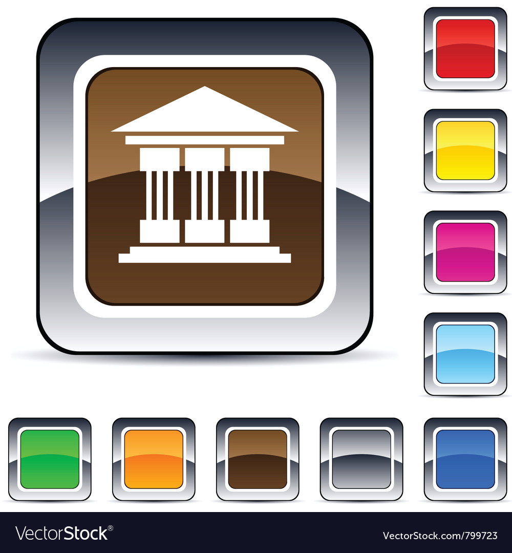Exchange square button vector | Price: 1 Credit (USD $1)