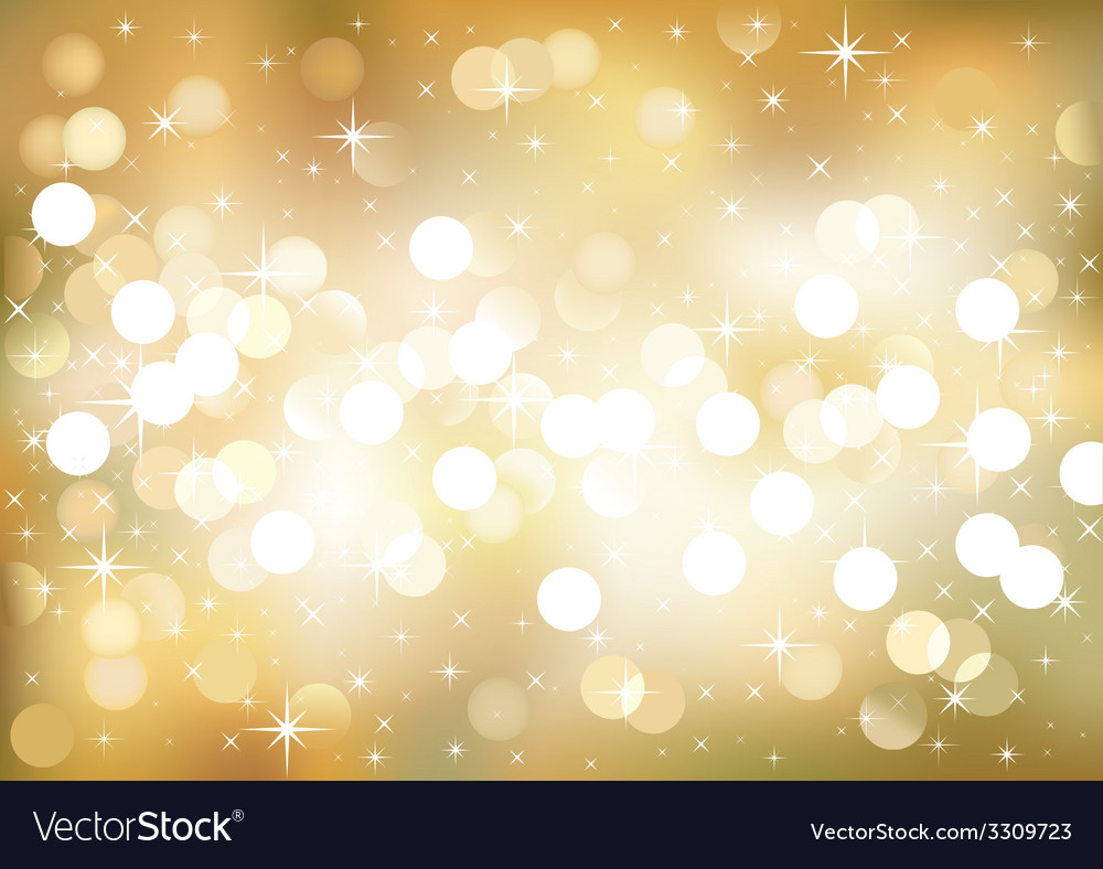 Golden festive lights background vector | Price: 1 Credit (USD $1)