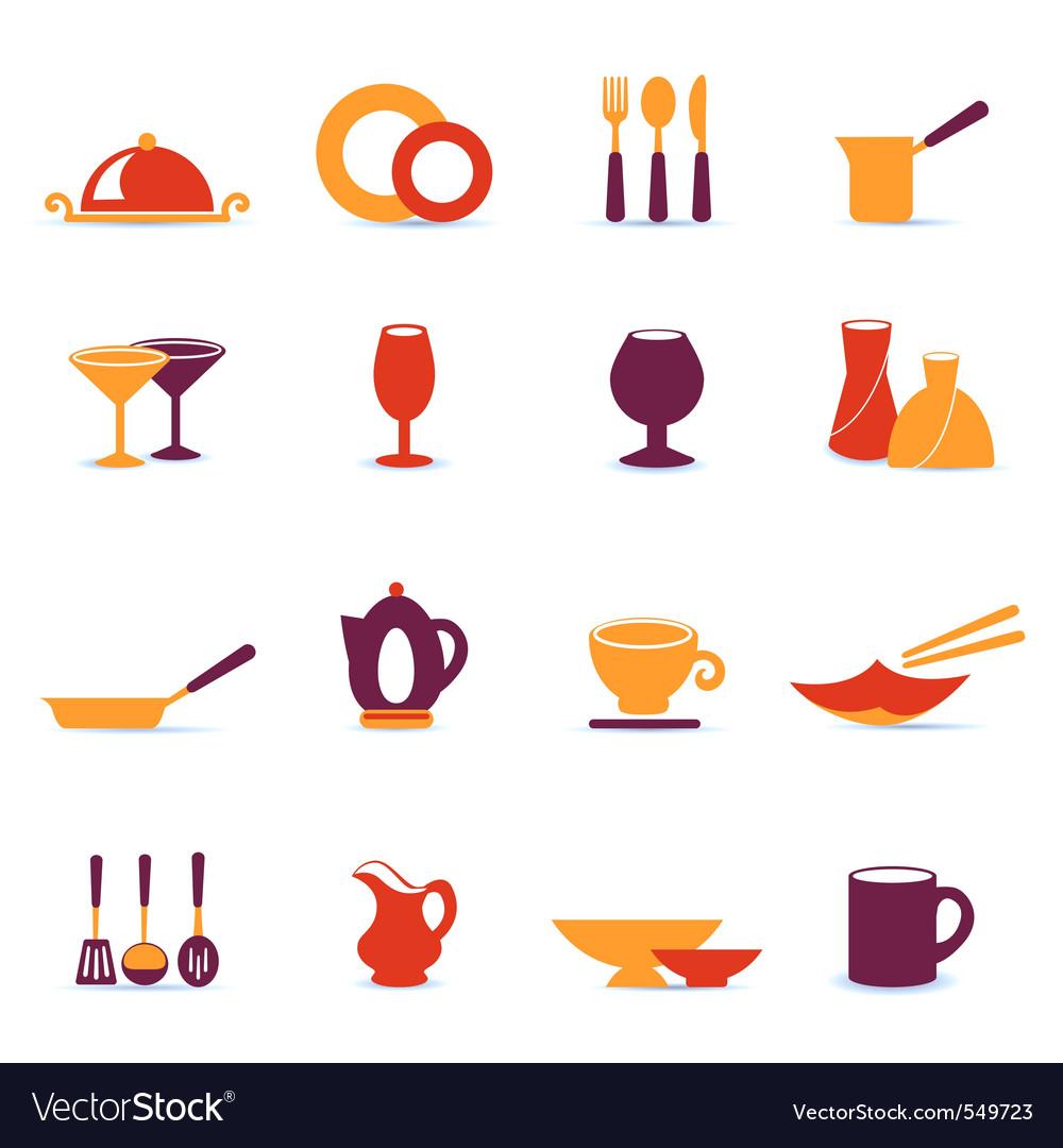 Kitchen utensil icons vector   Price: 1 Credit (USD $1)