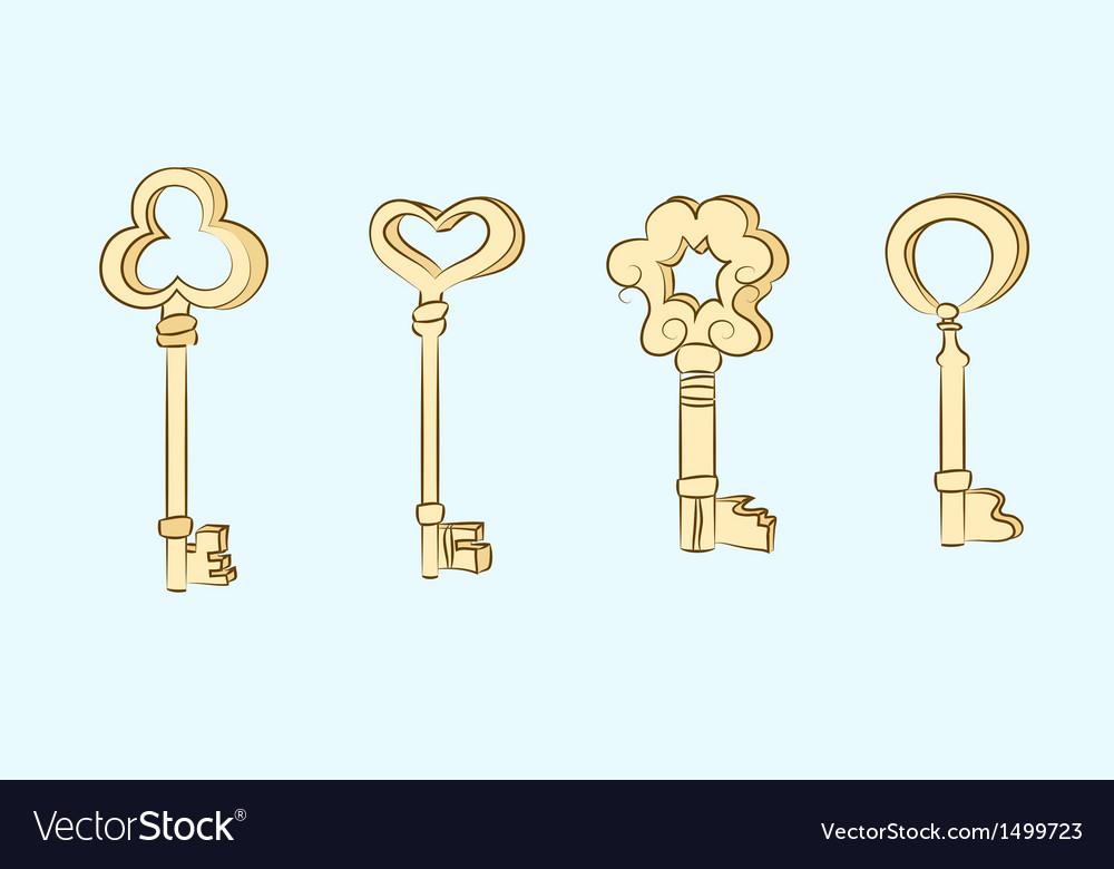 Old key vector | Price: 1 Credit (USD $1)