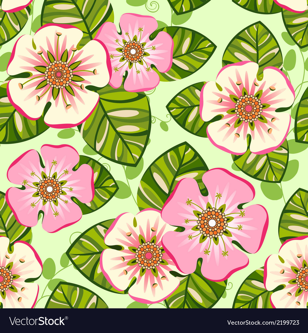 Romantic floral seamless pattern vector | Price: 1 Credit (USD $1)